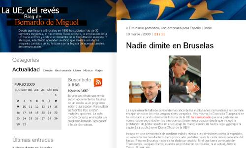 Blog de Bernardo de Miguel, corresponsal en Bruselas de Cinco Días